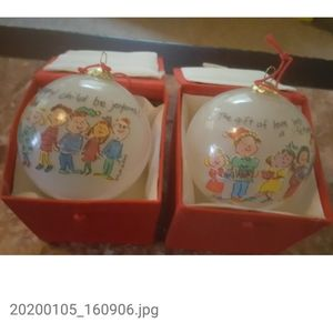 2 Child's Love Ornaments with Gift Boxes #11